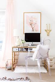 home office style ideas. Glam Office, Home Bamboo Desk, Blogger Style Your Senses Office Ideas [
