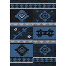 sunshine collection navy black 5 ft x 8 ft outdoor patio area rug
