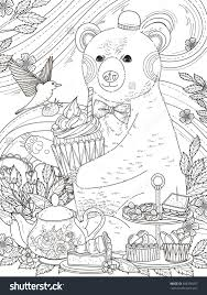 Lovely Bear Enjoys Afternoon Tea Adult