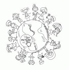 Small Picture Children of the World Earth Day coloring page for kids coloring