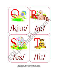 Want to learn this set.in a flash? My Phonetic Animal Alphabet Flash Cards 3 7 Esl Worksheet By Blunderbuster