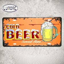 beer wall art vintage license plates ice cold beer wall art poster vintage tin metal sign beer wall art