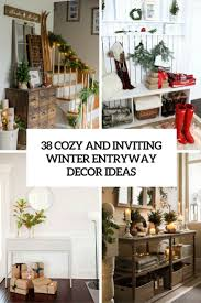 entryway table creating inviting impression at the first sight. 38 Cozy And Inviting Winter Entryway Décor Ideas Table Creating Impression At The First Sight