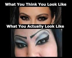 haha makeup faileye