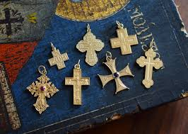 gallery byzantium s greek orthodox cross pendants are available in 14kt gold and sterling silver we offer a traditional greek orthodox baptismal cross with