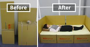 boxes into beds brilliant idea helps earthquake victims in japan bored panda