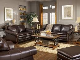 Living Room Colors With Brown Leather Furniture Living Room Blue Fabric Loveseat Sofa Nice Decorative Pillow Nice
