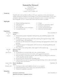 Resume Objective For Bartender Head Bartender Resume Resume Sample ...