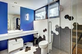 bathroom tile designs 2014. Restroom Tile Ideas Exquisite Bathroom With A Splash Of Blue And Hexagonal Tiles  Design Shower . Designs 2014
