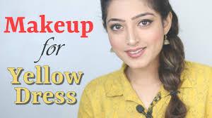 makeup for yellow dress saree outfit hindi