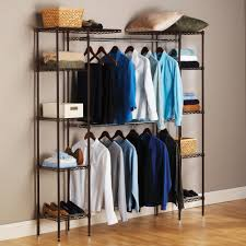 expandable closet organizer system satin bronze 58 83 w by seville classics com