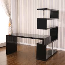 home office desk black. Picture Of Rotating Home Office Corner Desk And Shelf Combo Black W