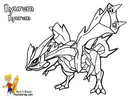 Small Picture Coloring Page Pokemon Black Kyurem Ex Coloring Pages For All