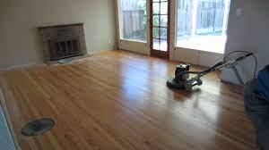 buffing hardwood floor you