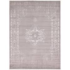 unique loom new classical light gray 10 x 13 rug