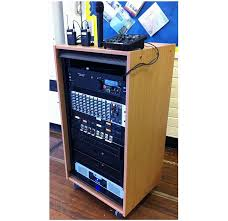sound system rack. kleven valley school, pa system and lighting installation sound rack t