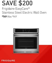 frigidaire appliance logo. frigidaire stainless steel electric wall oven. $749 was $949. appliance logo