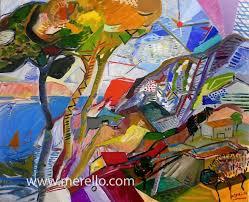 contemporary art landscapes artworks modern paintings mediterranean jose manuel