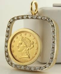 Gold Coin Pendant Designs Details About Unique 1860 2 5 Us Liberty Head Gold Coin