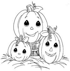 Small Picture Halloween Pumpkin Coloring Pages To Print Cute Coloring Pages