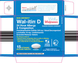 Wal Itin Dosage Chart Wal Itin D Non Drowsy 24 Hour Allergy And Congestion Tablet