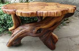 DIY Tree Stump Table, harvesting and construction