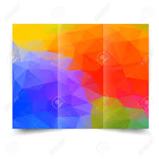 Brochure Background Design Colorful Bright Tri Fold Brochure Design Template With Abstract