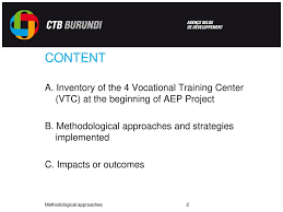 Vtc Organization Chart Methodological Approach Of Aep Projet Ppt Download