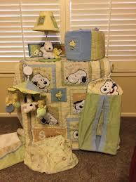 9piece kaboo snoopy crib bedding set for boys nuetral colors green blue brown 1862817427