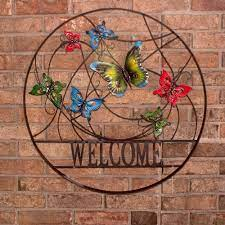 Free shipping on orders over $25 shipped by amazon. Decorative Outdoor Butterfly Welcome Wheel Wall Art Backyard Expressions