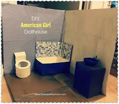 doll furniture recycled materials. DIY American Girl Bathroom Doll Furniture Recycled Materials A