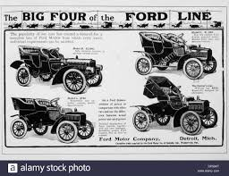 Ford Motor Company Vintage Advertisement Featuring The Big Four  Automobiles, Circa 1909