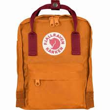fjallraven kanken mini kids backpack burnt orange deep red my cooling