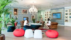 goggle office. Workplace: The Reception Has A Large Bath As Coffee Table And Walls Are Goggle Office E