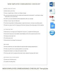 employee benefits package template new employee checklist template awesome boarding plan sample
