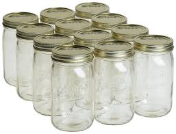 Kerr Wide Mouth Quart Mason Canning Jars Lids Bands Ebay