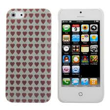 heart shape transpa frame hard back case cover for iphone 5