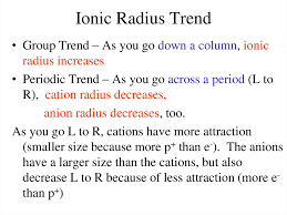 ionic size periodic table and trends online presentation