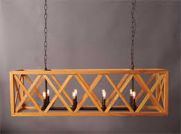 large wooden criss cross rectangular chandelier american or french country style the kings bay