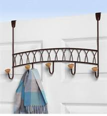 Door Hanging Coat Rack Hanging Coat Rack Bronze in Over the Door Hooks 4