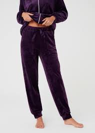 Chenille Pyjama Trousers With Pockets Ovs