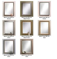 custom framed mirrors. Awesome Custom Metal Framed Mirrors Gallery Excel Glass And Granite For C