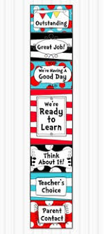Dr Seuss Chart Dr Seuss Inspired Behavior Clip Chart Classroom Management