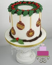 Easy Christmas Cake Decorating Idea
