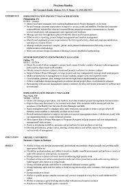 Implementation Project Manager Resume Samples Velvet Jobs