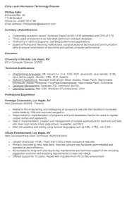 Entry Level Help Desk Resumes Entry Level Information Technology Resume Examples Sample Computer