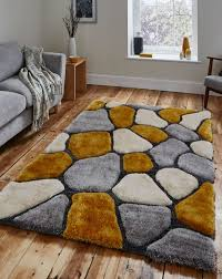 noble house nh 5858 grey yellow gy rug by think rugs