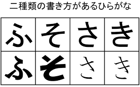 "I Saw A Different Writing Style For The Hiragana ""ki"" And ""sa"". Are ..."