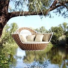 hanging outdoor bed swing round