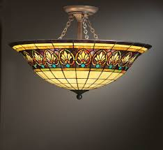 on stained glass ceiling light fixtures